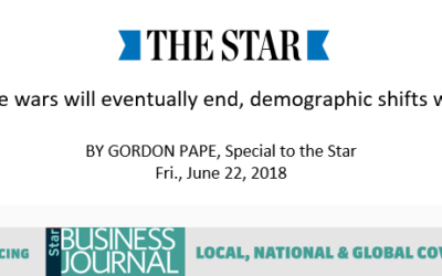 Trade wars will eventually end, demographic shifts won't (Gordon Pape, The Star)