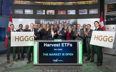 Harvest ETFs opened the market to celebrate the launch of the Harvest Global Gold Giants Index ETF (TSX: HGGG).